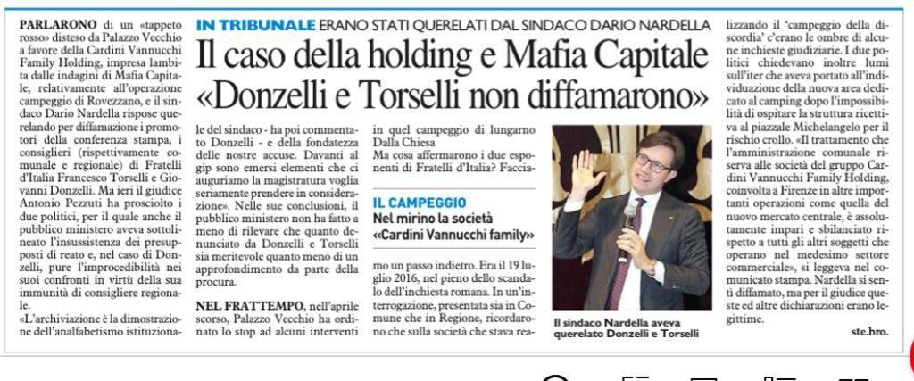 Querela di Nardella su Mafia Capitale: caso chiuso