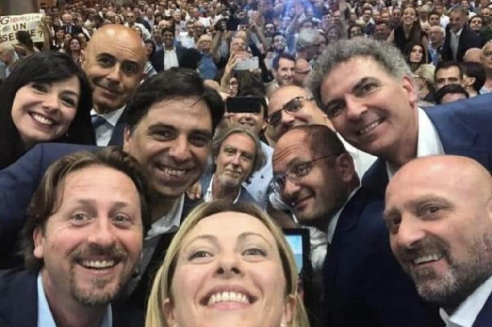 Fratelli d'IItalia. Salvo Pogliese e Giorgia Meloni