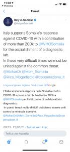Aiuti in Somalia