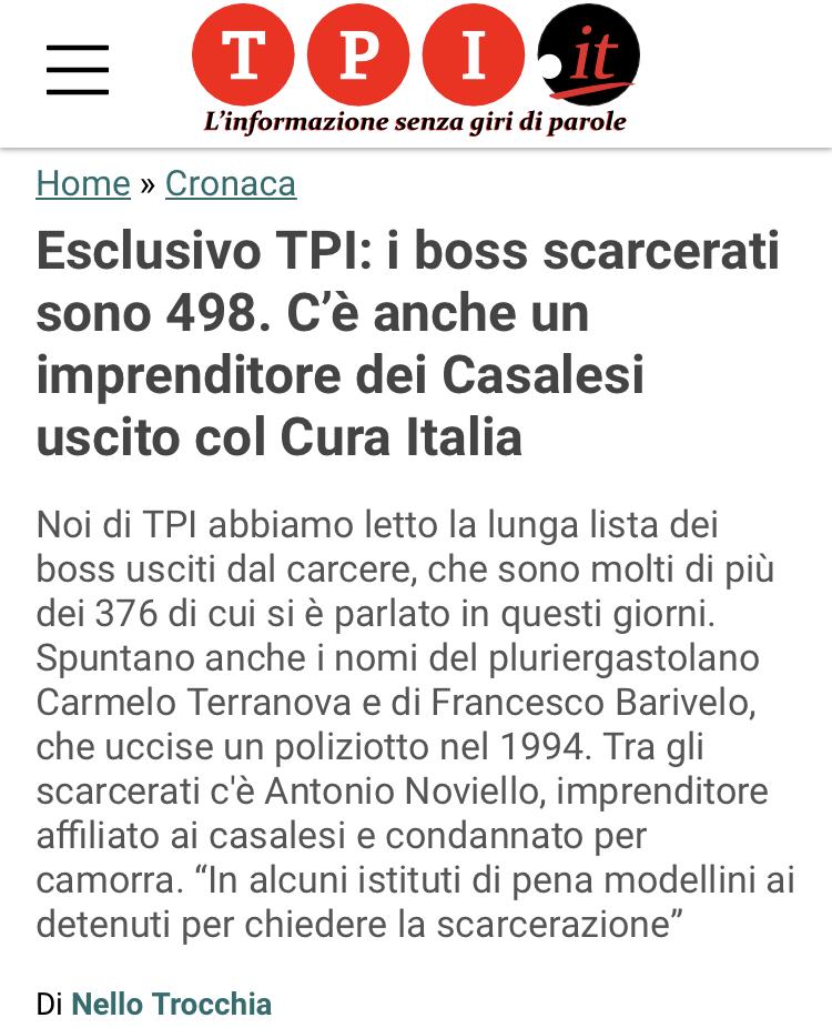 Boss mafiosi scarcerati