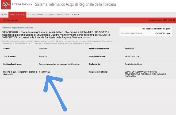 La Toscana compra prodotti omeopatici al posto dei farmaci per il coronavirus