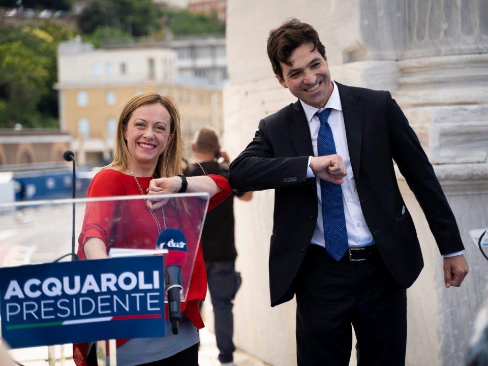 Marche: Meloni con Acquaroli, Fratelli d'Italia lancia il candidato governatore per il centrodestra