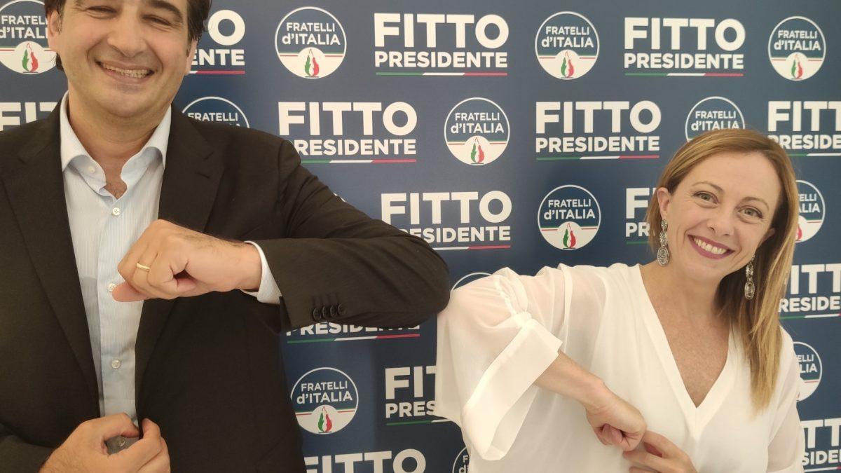 Giorgia Meloni alla presentazione di Fitto in Puglia