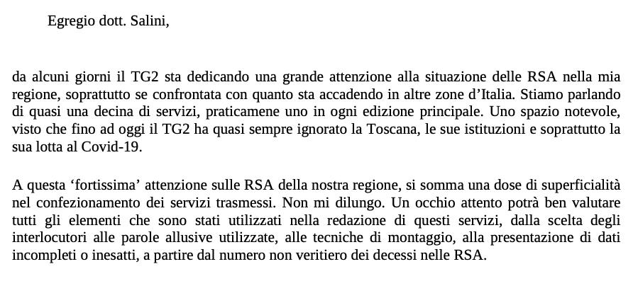 Licenziato dalla Asl in Toscana: il precedente di Rossi con il Tg2