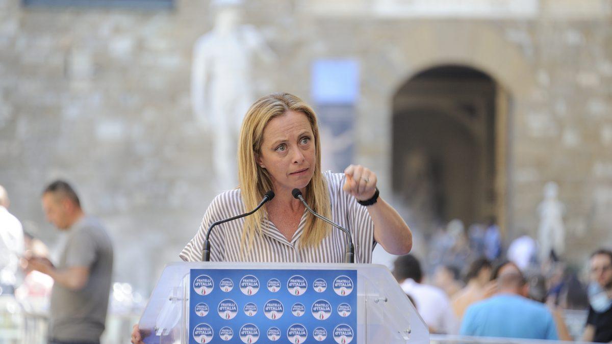 Giorgia Meloni in Toscana