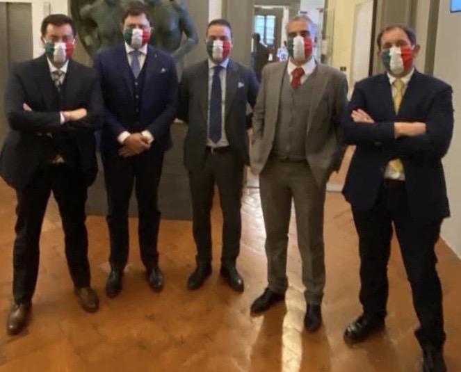 I 5 consiglieri regionali di Fratelli d'Italia in Toscana